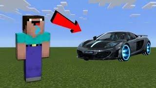 Нуб построил движущаяся машина в майнкрафт! l Нуб строит в майнкрафт! | Школа троллинга в minecraft!