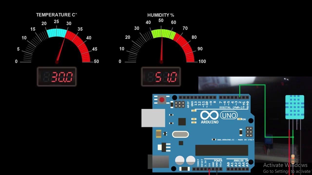 ARDUINO HMI WITH MODBUS RTU : Temperature & Humidity sensing