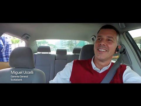 Gerentes escuchan clientes en taxi - Scotiabank Te Escucha