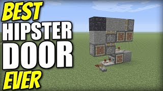 Minecraft Xbox - HIPSTER DOOR [ Best Ever ] Redstone Tutorial - PE / PS4 / PS3 / Switch