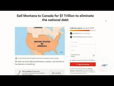 Petition Calls For U.S. To Sell Montana To Canada For $1 Trillion