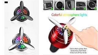Car Perfume Car Air Freshener Aromatherapy LED Lights Cars Air Vent Airplane Shape