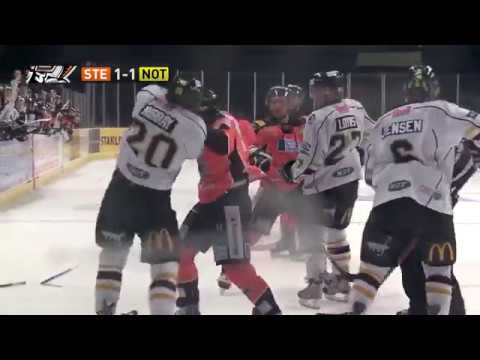Robert Dowd vs Chris Murray EIHL fight 16-11-13