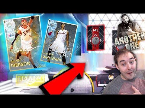 NBA 2K18 My Team BACK TO BACK DIAMOND PULLS!?!?! NEW SIGNATURE DIAMOND LIMITED ALLEN IVERSON!