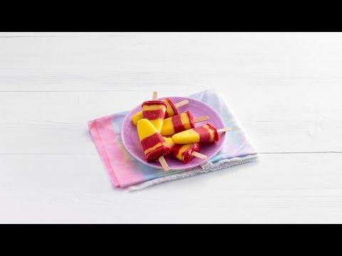 Fruitijsjes van mango en frambozen (paletas) – Allerhande