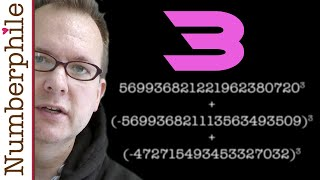 3 as the sum of the 3 cubes - Numberphile