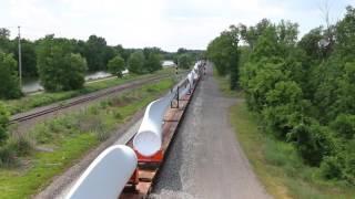CSX Train with Windmill Blades