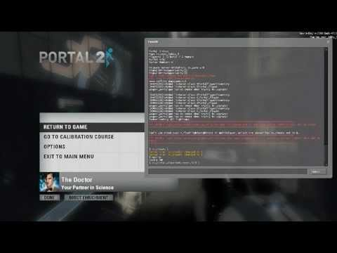 Portal 2 - Derping around with Console Commands