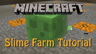 Minecraft: How to build a Slime Farm Tutorial