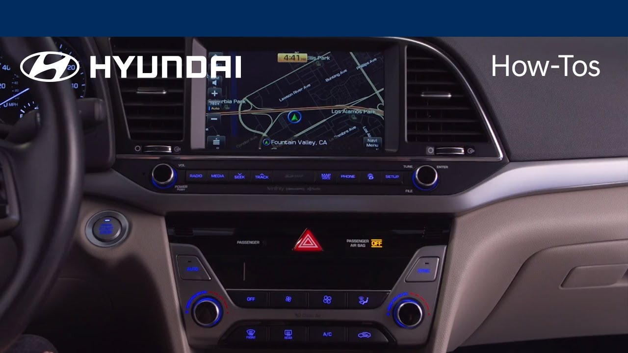 How to Use the Basic Navigation Features | 2018 Hyundai