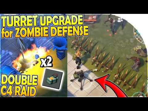 DOUBLE C4 RAID + NEW TURRET UPGRADE for ZOMBIE DEFENSE?! - Last Day on Earth Survival Update 1.11.7