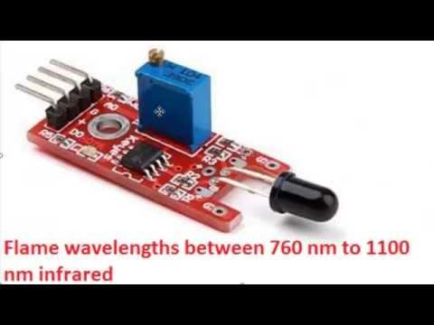 KY-026 flame detector sensor Arduino - YouTube