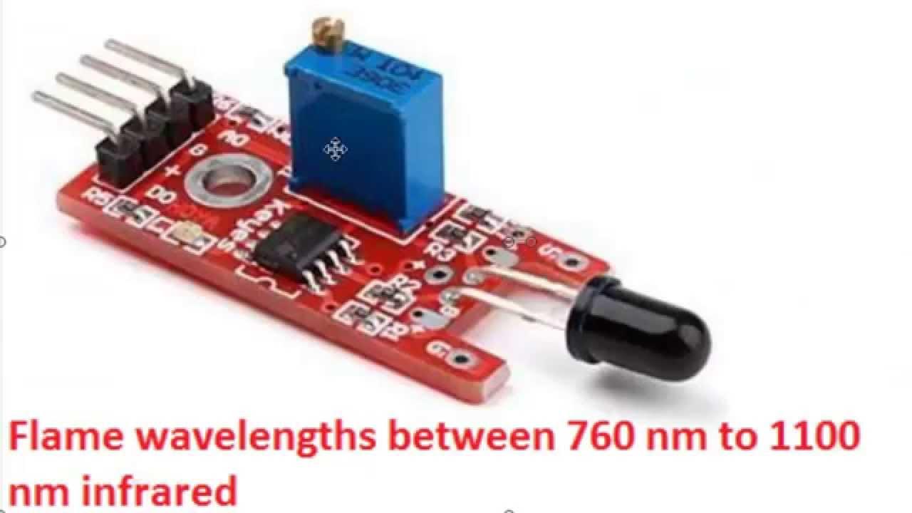 IR Flame Detector Module (ตรวจจับเปลวไฟด้วย Infrared) แบบ 4 Pin