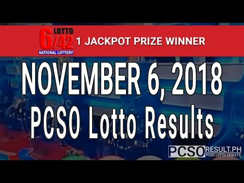PCSO Lotto Results Today November 6, 2018 (6/58, 6/49, 6/42, 6D, Swertres, STL & EZ2)