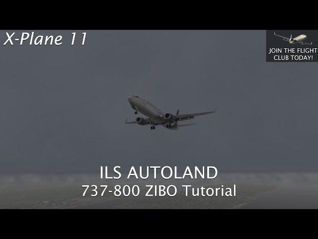 X-Plane 11   737-800 Zibo Autoland Tutorial
