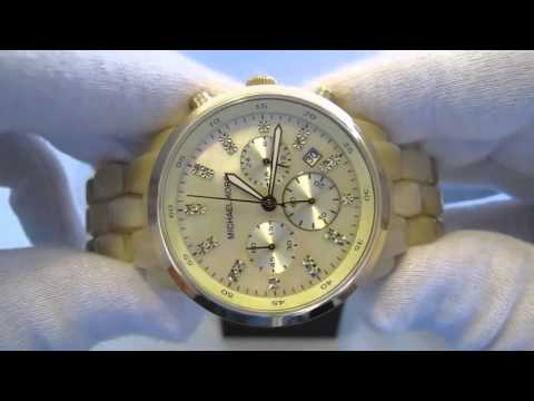 f5810673fb0cb Relógio Michael Kors Mk5217 Madrepérola Original - YouTube