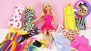 Barbie módna prehliadka | Šaty pre Barbie | Topánky pre Barbie | 12 Barbie šiat | 12 párov topánok