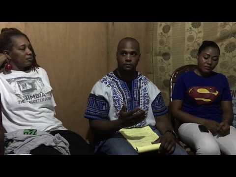 Omar Wilks discussion with students of Yaounde University on Black Unity