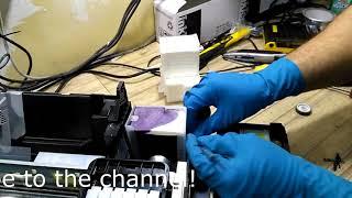 Інструкція заміна абсорбуючої прокладки (Памперс) Epson L800/L805/R290/T50/P50
