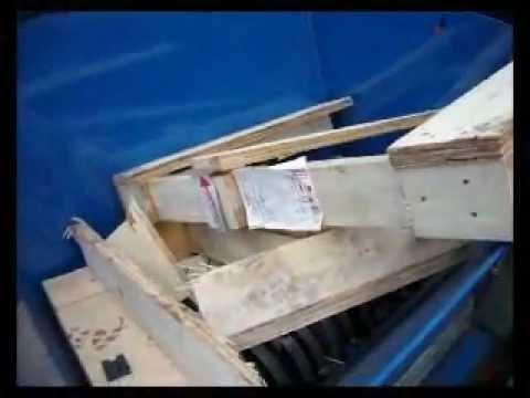 AZ50HD Dual Shaft Industrial Shredder - Timber Pallets