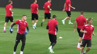 Europa League, lo Shkendija si allena a San Siro