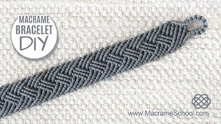 Braided Men's Bracelet Tutorial by Macrame School