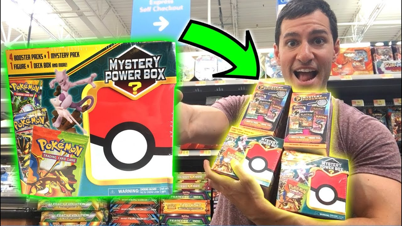 df8a4f178b OPENING NEW POKEMON MYSTERY POWER BOXES FROM WALMART! (OLD PACK PULLED!)