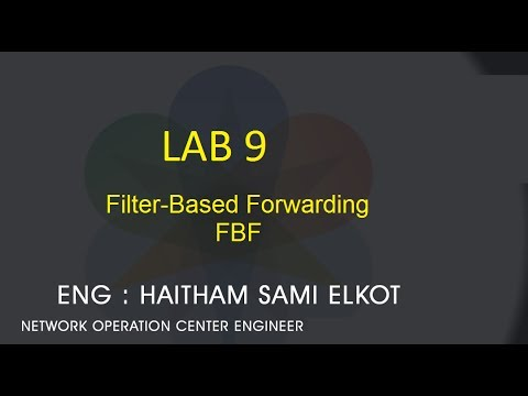 JunOS Lap 9 Filter-Based Forwarding Eng Haitham Elkot