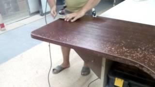 видео Стол криволинейный