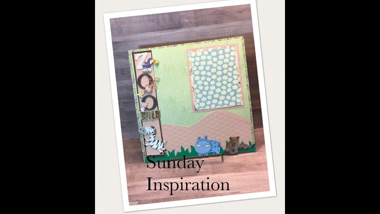 Scrapbook ideas using cricut - Sunday Inspiration Scrapbook Layouts Using Cricut
