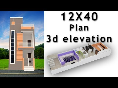 12x40 House Plan With 3d Elevation By Nikshail Youtube