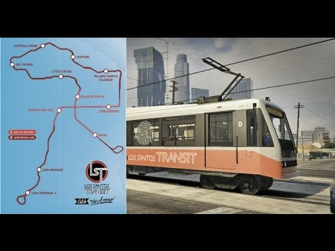 GTA V Tram Full Route (PS4)