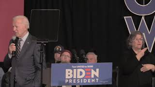 Biden on America's Sacred Obligation