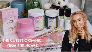 🦄The cutest organic skincare haul ✨|| glitter jelly mask & unicorn brain? 😂