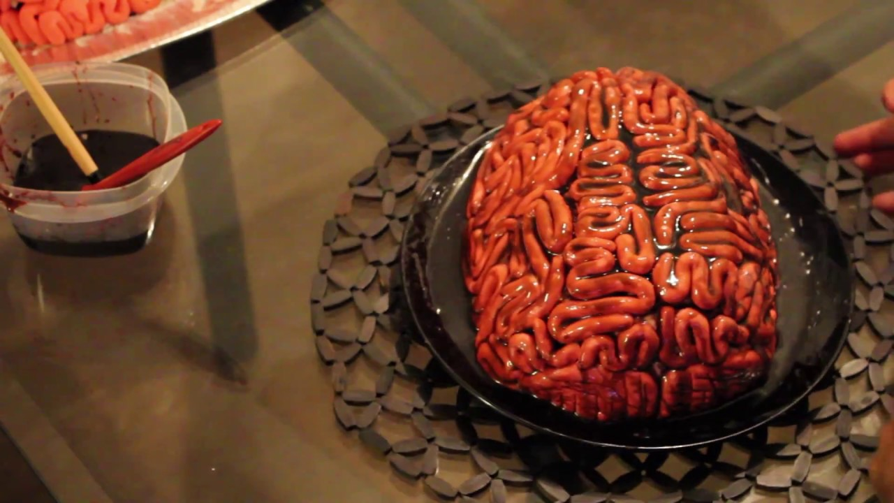 Making A Brain Cake For Halloween