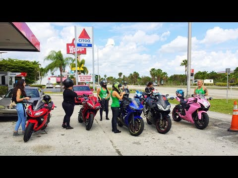 All Girls ride Motorcycles Miami to the Florida Keys moto vlog 20