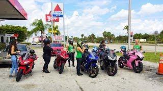 All Girls ride Motorcycles Miami to the Florida Keys moto vlog 20