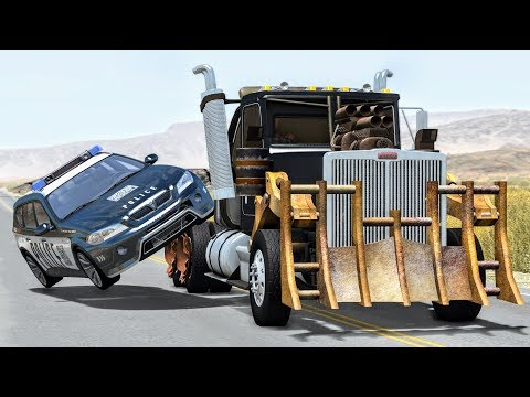 Crazy Police Chases #13 - BeamNG Drive Crashes