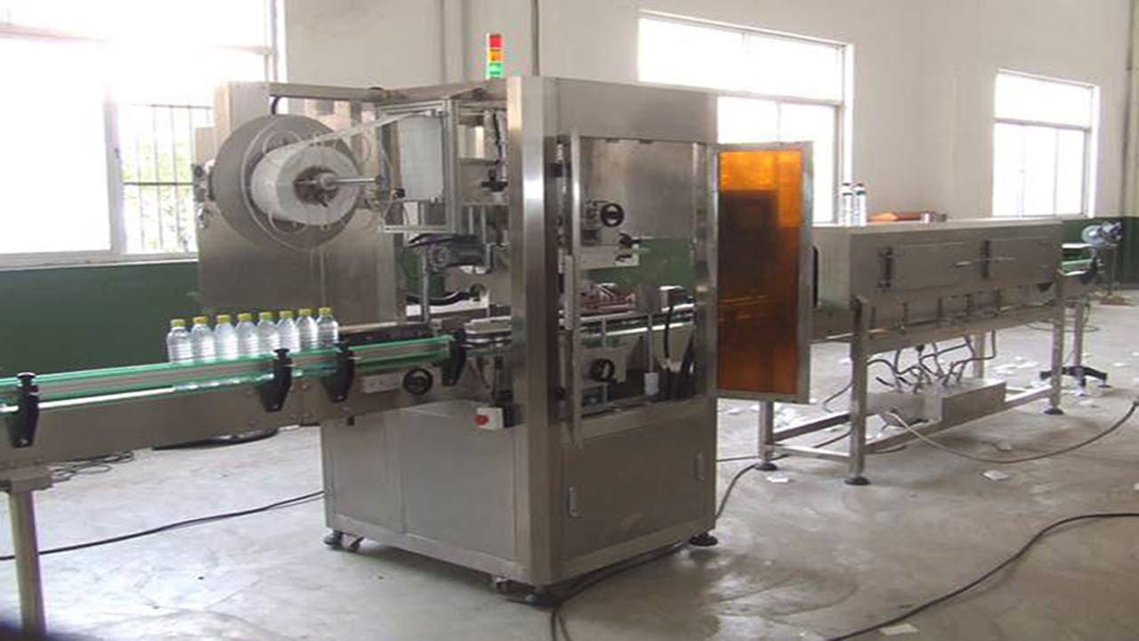Pvc Sleeve Shrink Label Machine For Plastic Water Bottles