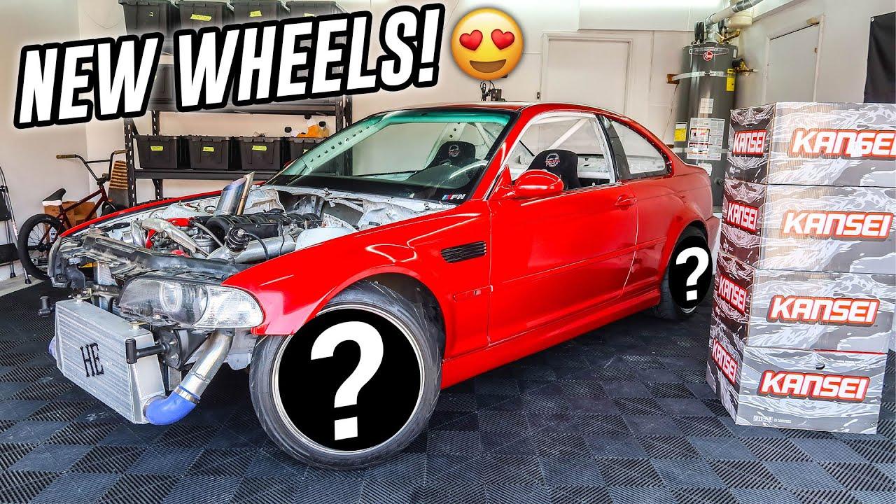 NEW WHEELS FOR MY TURBO BMW E46 M3 DRIFT CAR!!!