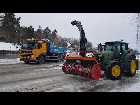 SWEDISH WINTER! Snow Cleaning Project - Danderyd, Djursholm - Stockholm!