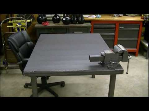 Steel Work Bench On Wheels Design Ideas Youtube
