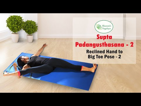Supta Padangusthasana II || Reclined Big Toe Pose || Reclined Hand to Big Toe Pose