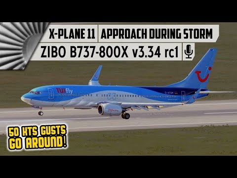 ZIBO B737-800X | Approach during STORM! | EDDV to EDDL [X
