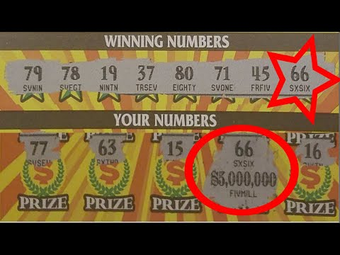 Real $5,000,000 Scratcher Win! - Almost half a million views! - No fake tickets on this video!
