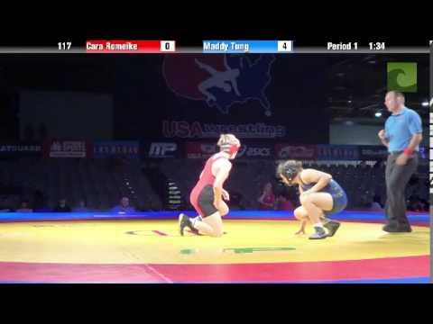 Women 117 - Cara Romeike vs. Maddy Tung