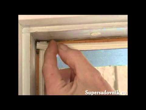 Утепление дверей и окон с помощью уплотнителя