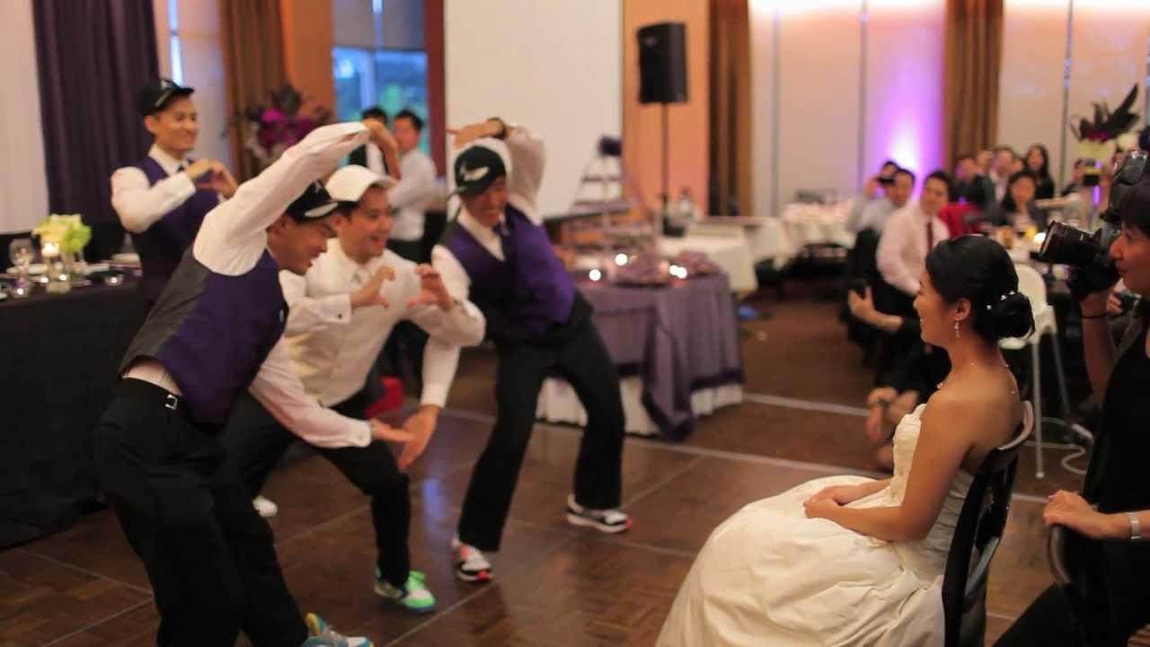 Surprise Wedding Dance Guys Dancing To Justin Bieber Baby Song You