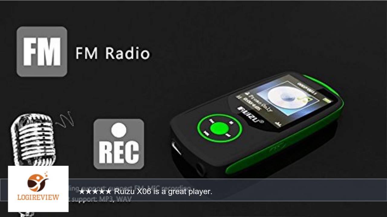 ruizu x06 wireless bluetooth mp3 player with fm radio 4gb. Black Bedroom Furniture Sets. Home Design Ideas