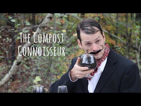 The Compost Connoisseur Demonstrates The Proper Technique For Smelling Compost